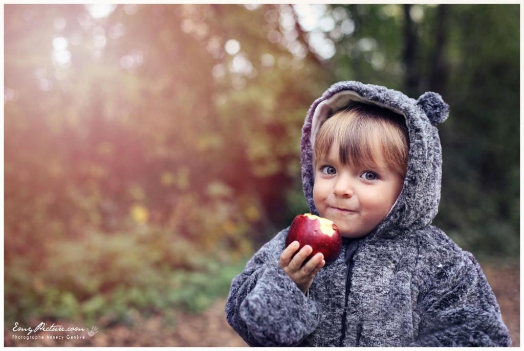photographe spécialiste enfant pomme