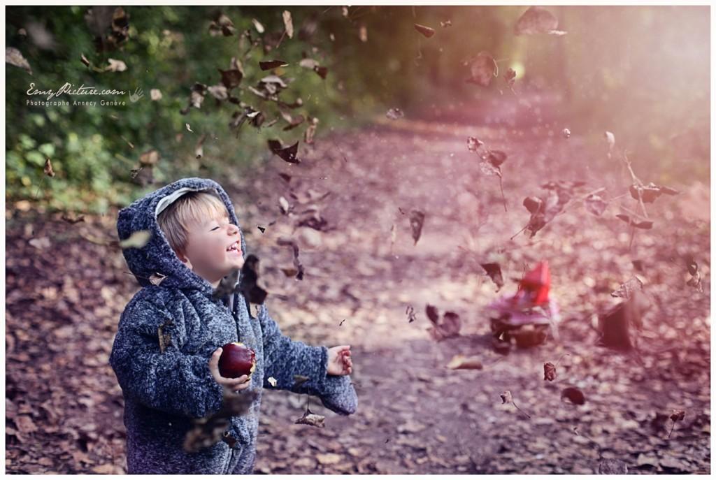 photographie enfant automne